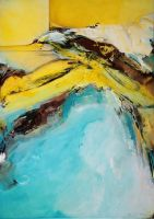 Zugvogel-2019-100x140cm-Acryl-auf-Leinwand